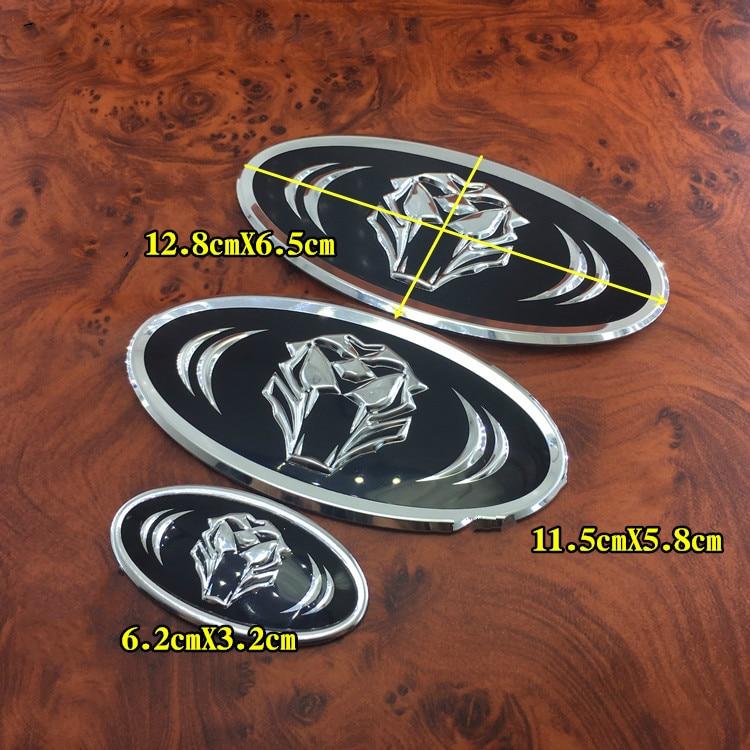 1 PCS Tiger emblem Front & Rear Badge Car Stickers Trunk Steering Wheel Emblem Badge For KIA K7 K5 K3 K2 Car Styling