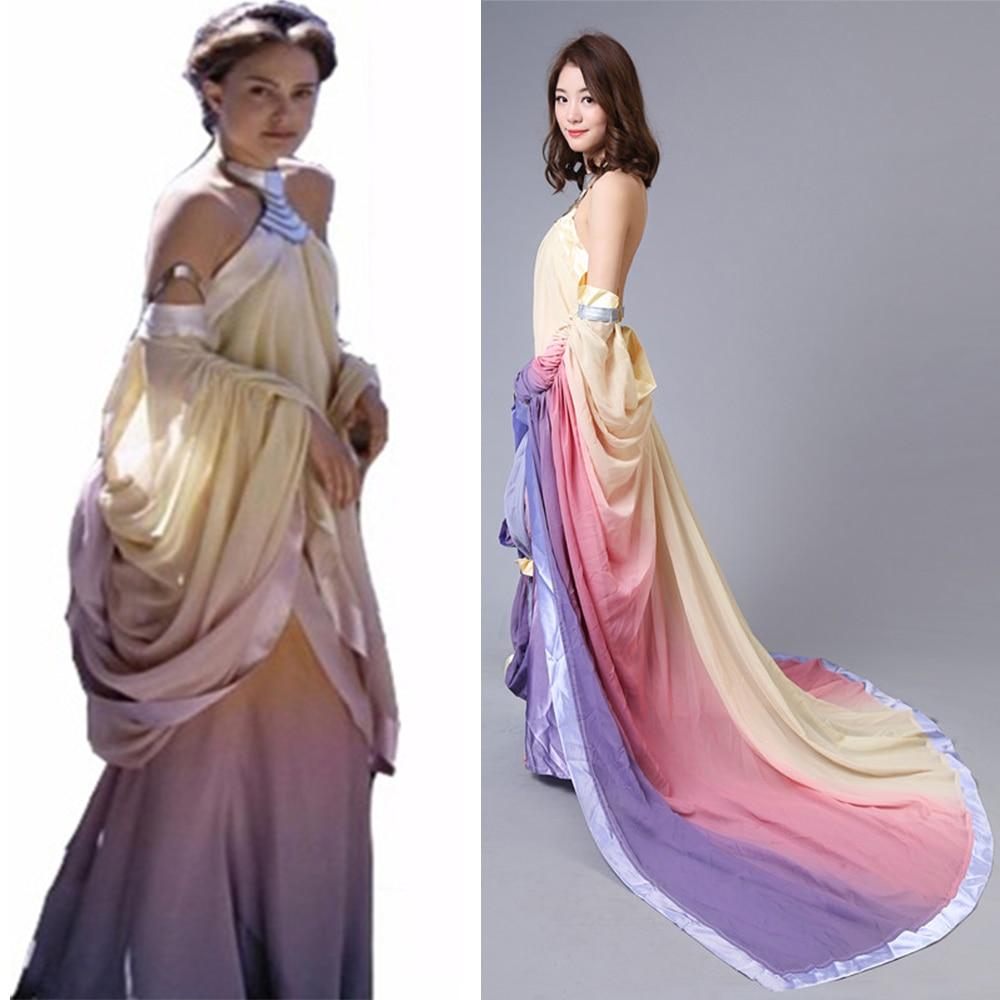 Star Wars Revenge of the Sith Padme Naberrie Amidala Elegant Cosplay Dress Women's Halloween Fancy Party Costumes Custom-made