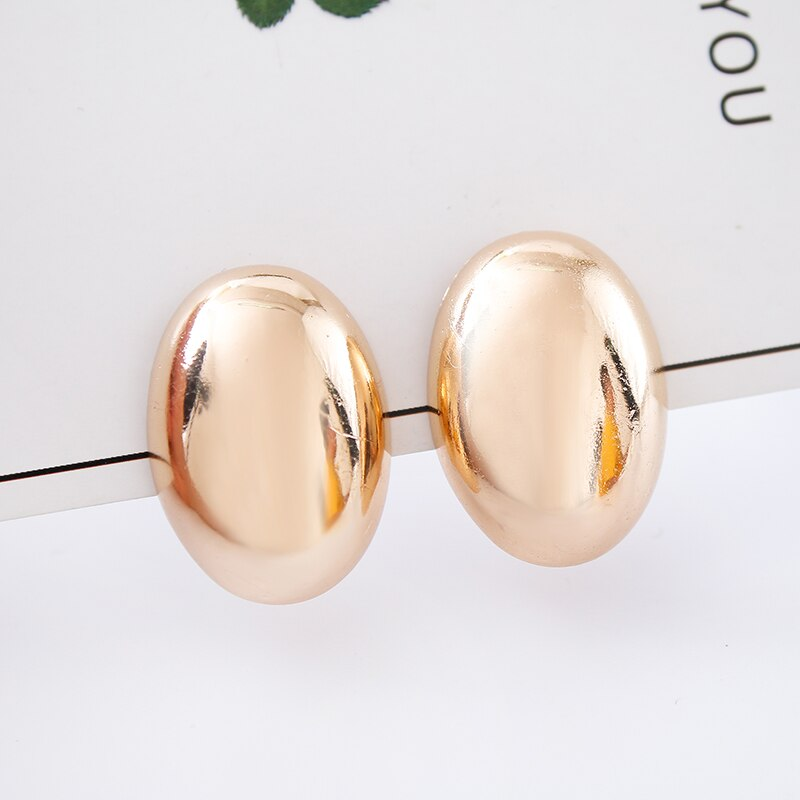 Nueva moda de las mujeres con un par de pendientes de clip, oro rosa elíptica oreja clip club fiesta pendiente joyería