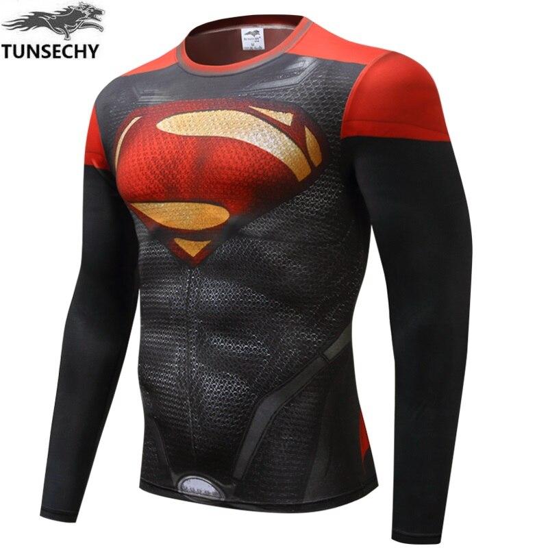 Новинка 2014! Брендовые компрессионные колготки Marvel Captain America 2 Super Hero, футболка, Мужская одежда для фитнеса, длинные рукава, XS-4XL