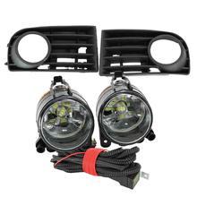 LED Lumière De Voiture Pour VW Golf A5 MK5 R32 2004 2005 2006 2007 2008 2009 Nouveau Front FEUX DE BROUILLARD À LED POUR VOITURE Brouillard Lampe Calandre Et Fil