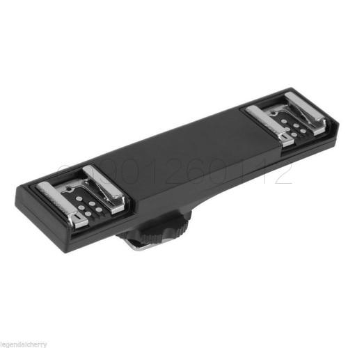 Flash Dual Zapata TTL Off-cámara Speedlite Sync cable brazo soporte para Canon 1300D 600D 650D 700D 80D 800D 5D4 5 D3 7D2 6D2 6D
