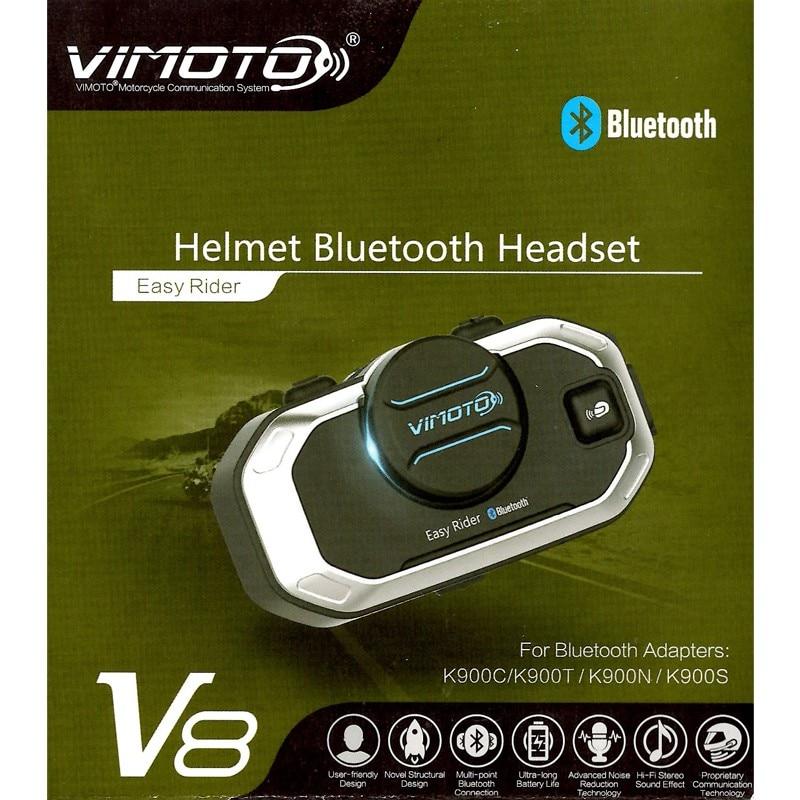 Vimoto Englisch Version Easy Rider V8 Multi-funktionale Motorrad BT Sprech Motorrad Helm Intercom Bluetooth Headset