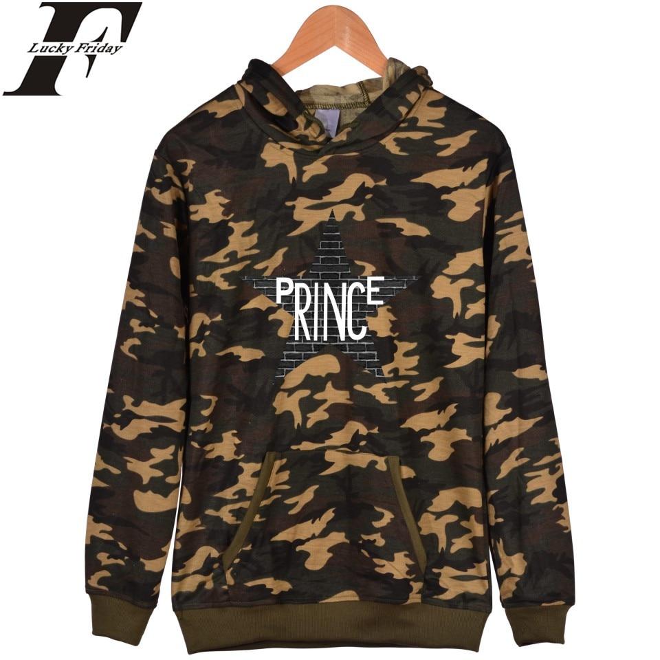 LUCKYFRIDAYF Hot Sale Prince Rip Camouflage Hoodies Harajuku Mens Sweatshirt And Prince Battle Fatigues Pullover Sweatshirts