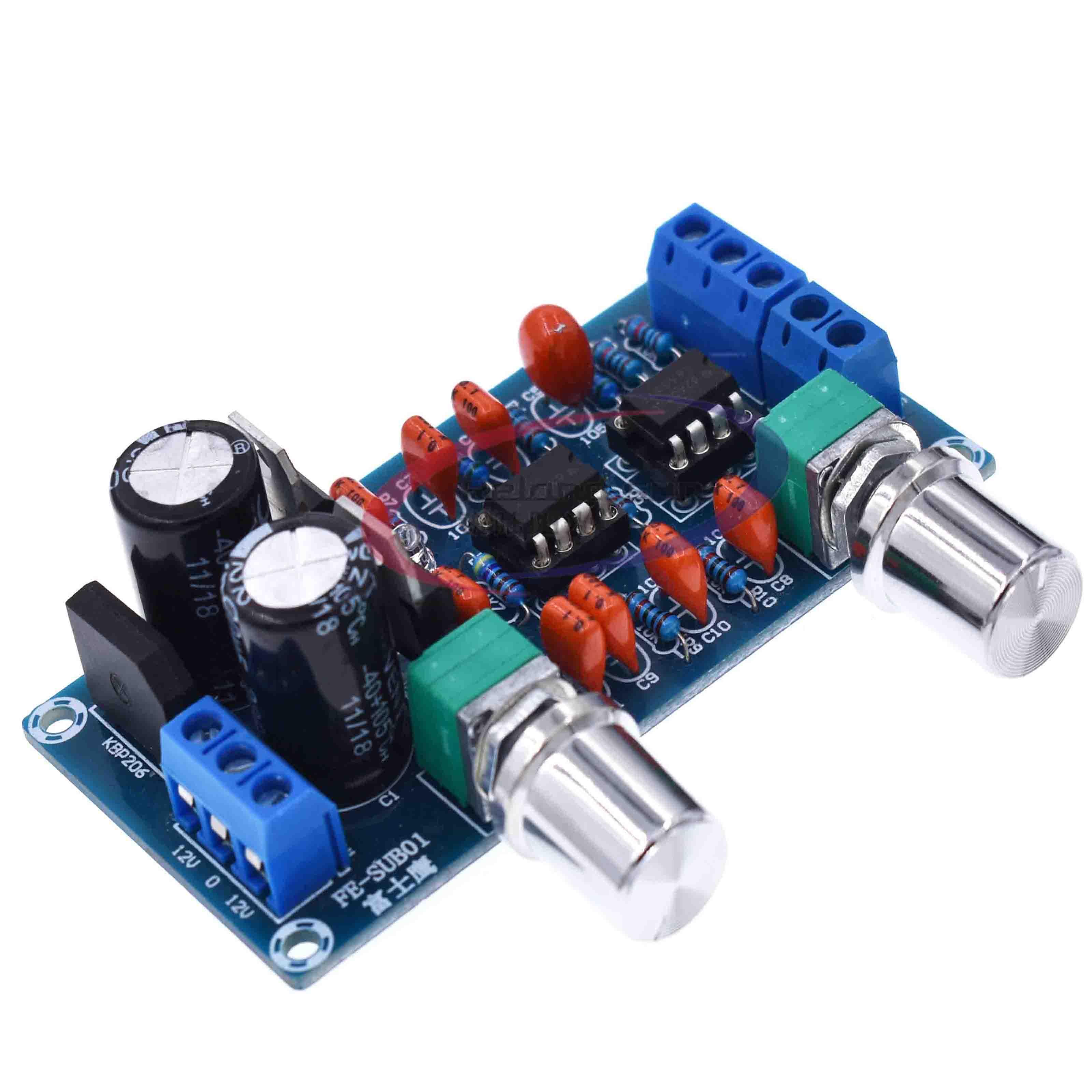 Nueva placa de filtro de paso bajo NE5532, módulo amplificador de placa de Control de volumen Subwoofer 9-15V