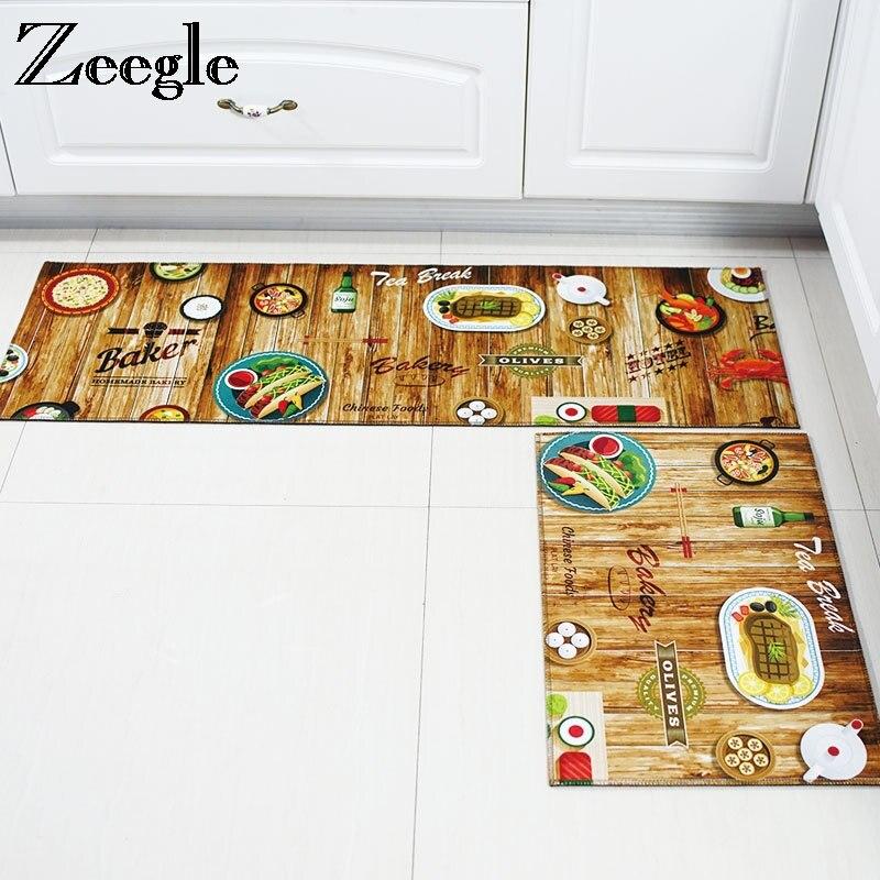 Zeegle Cartoon Printing Mats Home Entrance Doormats Anti-slip Bedroom Carpets Bedside Mats Coffee Table Floor Mats Kitchen Rugs