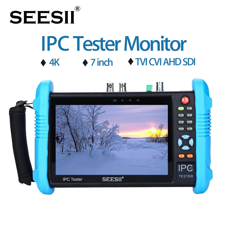 "SEESII IPC-9800ADHSPLUS 7 ""IPS сенсорный экран H.265 IP камера тестер 4K 1080P видеонаблюдения AHD SDI CVBS аналоговый видео тест HDMl PTZ контроль"