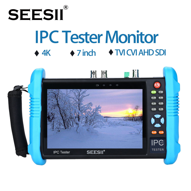 "SEESII IPC-9800ADHSPLUS 7 ""Pantalla táctil IPS H.265 probador de cámara IP 4K 1080P CCTV AHD SDI CVBS Video analógico prueba HDMl Control PTZ"