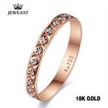 18k pur or bague femmes Rose fiançailles bandes de mariage bijoux sculpté Design réel solide 750 partie à la mode 2020 nouveau chaud bon