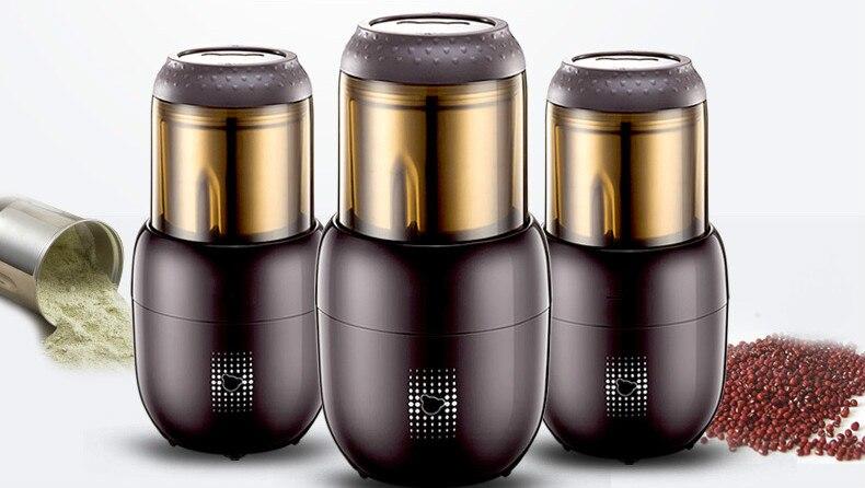Kaffeemühlen Schleifen mühle kleinen trockenen sanqi pulver maschine haushalt super feine kornmehl fräsen grinder. NWE