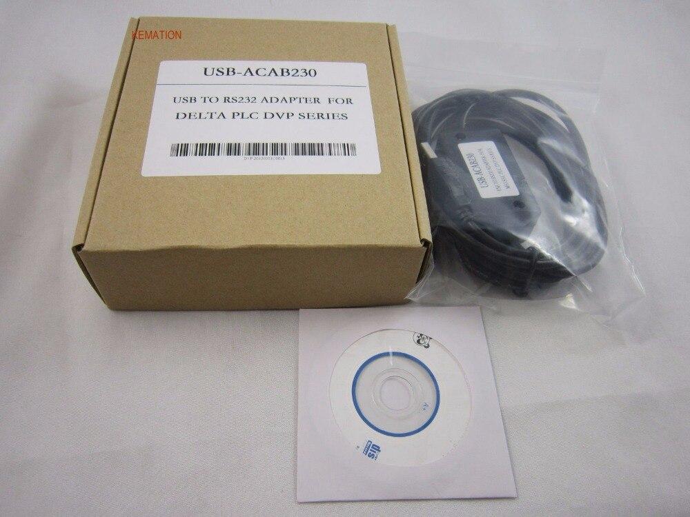 Cable de programación OEM USB-ACAB230 USBACAB230 (USB-DVP) adaptador de interfaz USB para serie DVP PLC 2,5 M