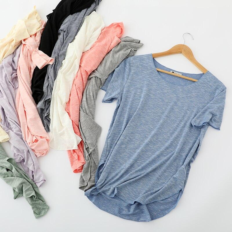 Camiseta para mujer, Blanco Simple, cómoda, sentido salvaje, suelta, tamaño grande, Tops para mujer, chica, primavera, verano, Camiseta femenina