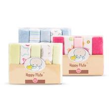 HappyFlute-lingettes bébé doux 23cm x 23cm   10 pièces/ensemble, lingettes bébé, couleurs aléatoires, serviettes alimentation de bébé
