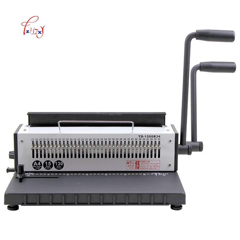 دليل سلك آلة تجليد 34 ثقوب المعادن لولبية سلك بكرة ملزم آلة A4 الموثق الناخس آلة 1 قطعة