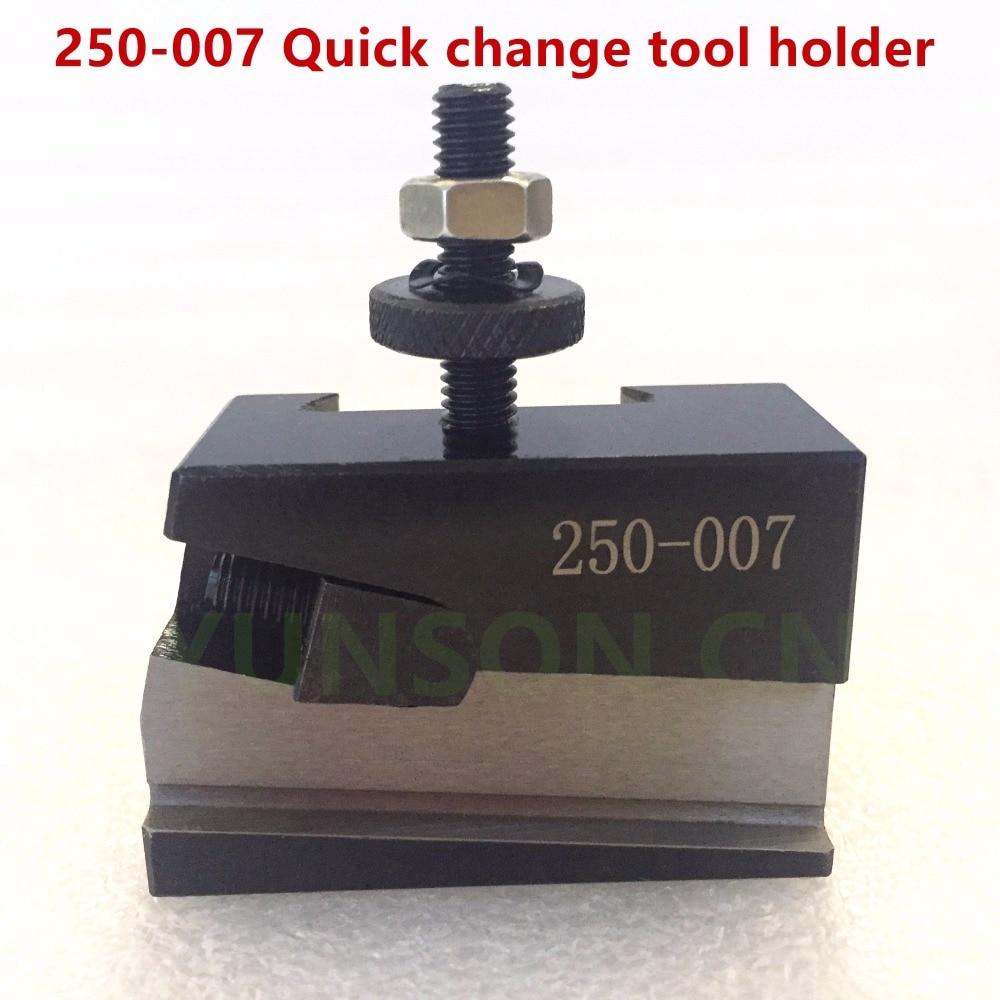 Herramienta de cambio rápido 250-007, soporte de torno QCT para herramienta de corte universal, hoja de corte, altura de 1/2 pulgadas