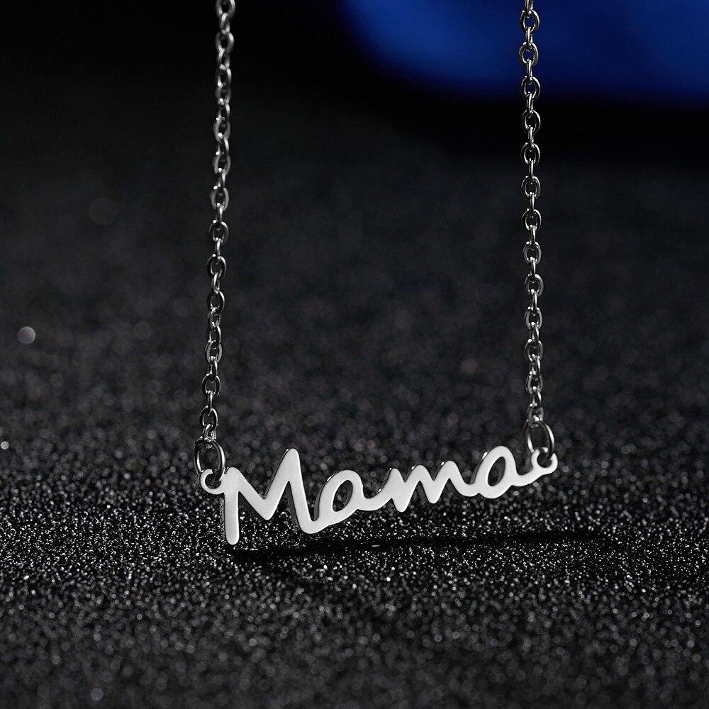 12 pzas/lote venta al por mayor mamá colgante collar cadena Regalo para mamá madre familia amor regalo para el Día DE LA Madre mamá las mujeres collares