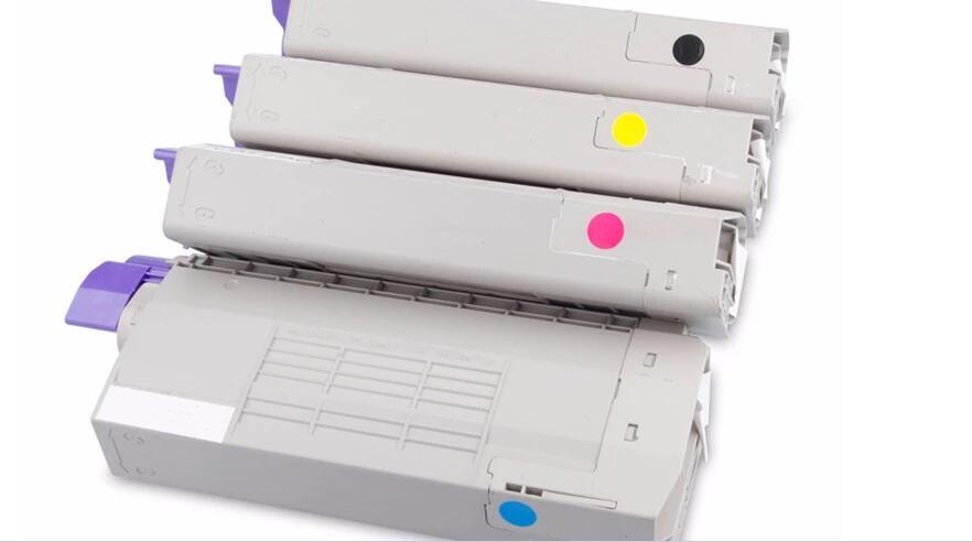 Nuevo cartucho de tóner de color compatible con OKI C532 C542 MC563 MC573 serie kcmy cartucho de tóner láser 4 unids/set