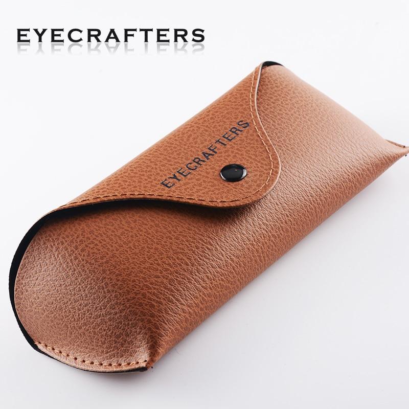 Eyecrafter original couro do plutônio marrom óculos de sol caixa