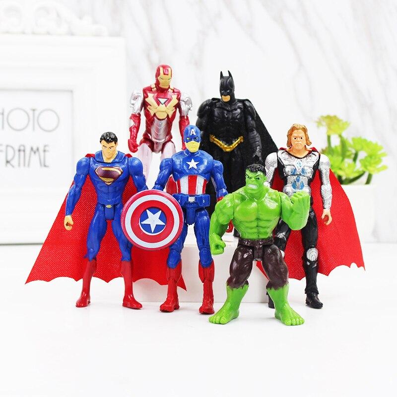 6-pz-lotto-marvel-avengers-superhero-infinity-war-iron-man-hulk-capitano-americano-thor-super-heroes-figure-giocattoli