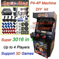 game king 3016 in 1 arcade box with jamma cable happ joystick button coin selector full kit for diy 4 players arcade cabinet
