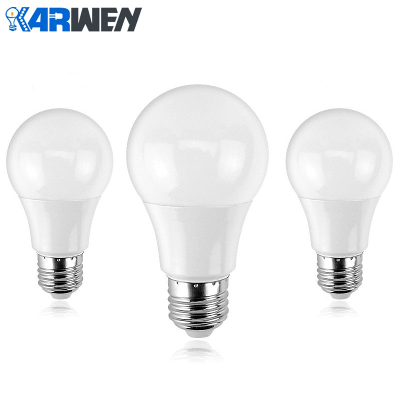 KARWEN-Lámpara LED E27, Bombillas, 3W, 5W, 7W, 9W, 12W, 15W, 18W, blanco...
