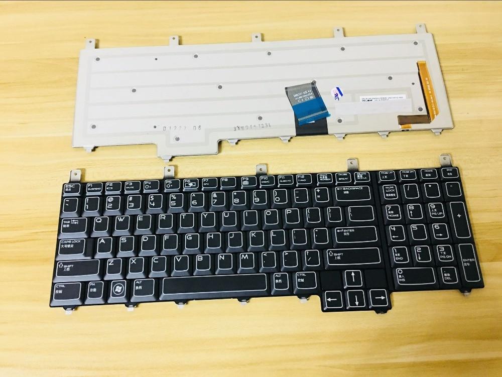 New keyboard for Dell Alienware M17X R1 R2 R3 R4 R5 R6 M18X R1 R2 R3 QWERTY US BLUE RIBBON