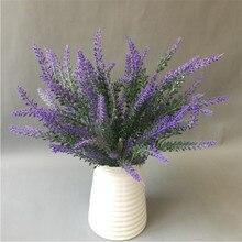 Fausses fleurs de lavande artificielles en plastique   6 pièces, fleurs de lavande artificielles pour la maison, le salon, le bureau, fleur décorative, 6 couleurs