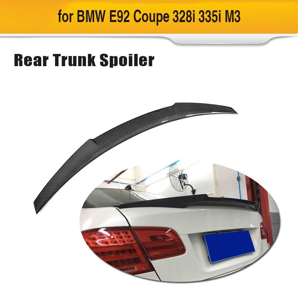 Traseira do carro Tronco Spoiler Asa para BMW E92 Base Coupe M tecnologia M3 325i 328i Coupe 2-Porta 2006-2012 Fibra De Carbono Asa Traseira Spoiler
