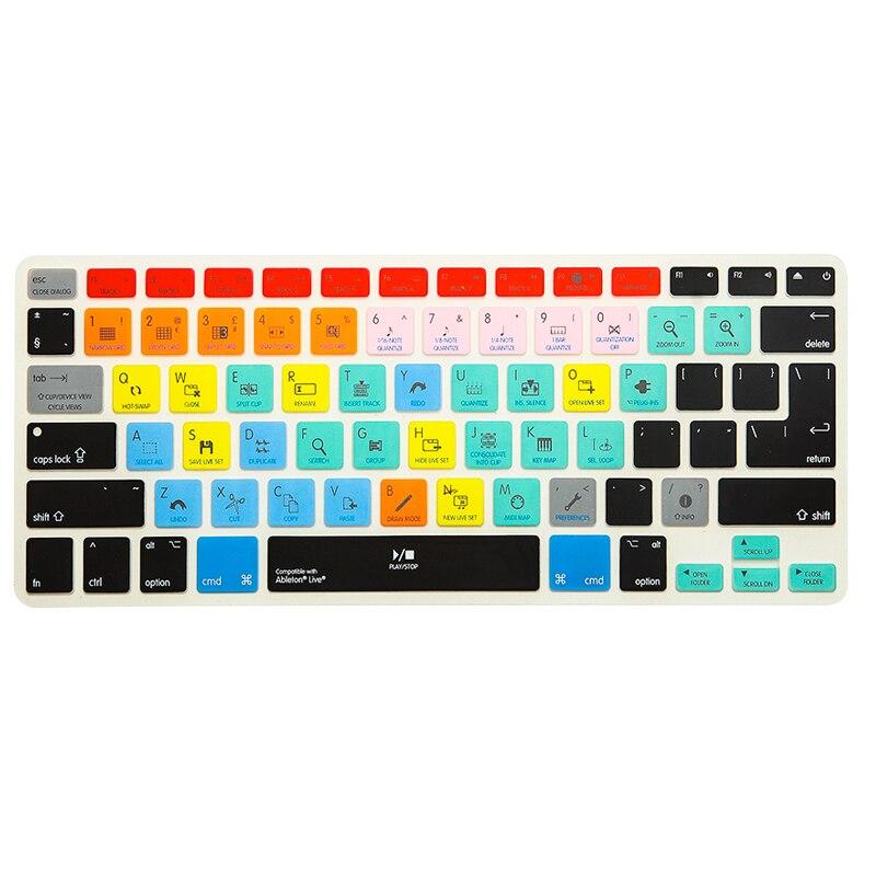 Para Ableton Live Traktor Serato DJ FL Studio atajo de teclado cubierta para Macbook Pro 13 15 Retina 13,3