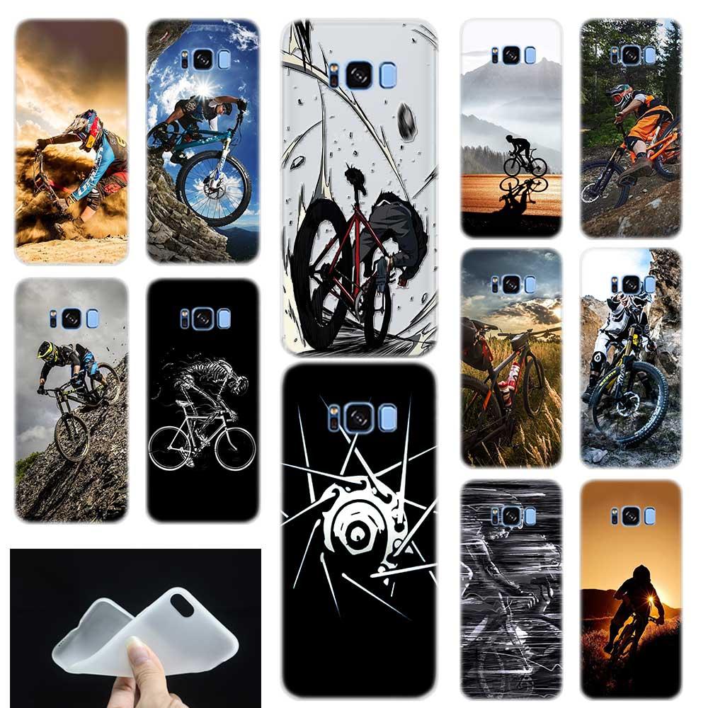 Increíble funda de teléfono con diseño de bicicleta de montaña para Samsung Galaxy S7 S6 Edge S8 S9 S10 S11 S20 Plus E Note 8 9 10Plus