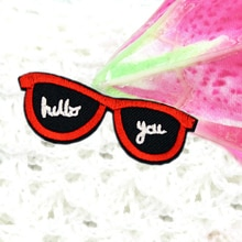 1Pcs Sunglasses Patches Iron On Or Sew Fabric Sticker For Clothes Badge Patch Embroidered Appliques