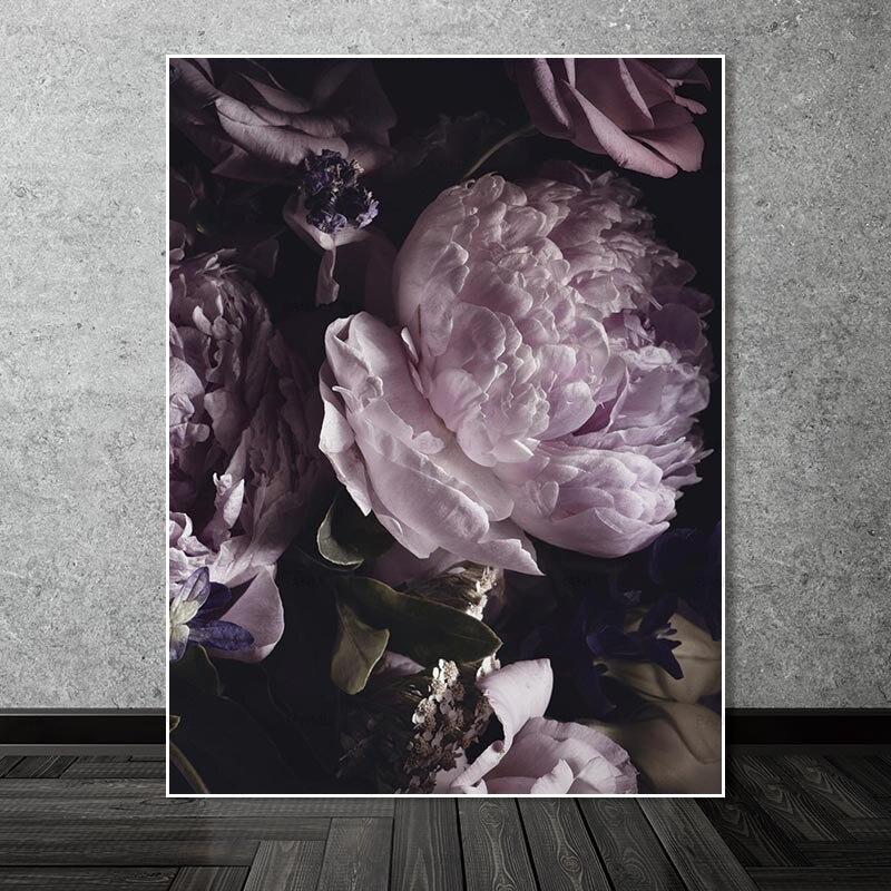 Картины на холсте, абстрактная живопись, художественные принты, цветок на холсте, домашняя живопись, без рамки, Художественная печать, худож...
