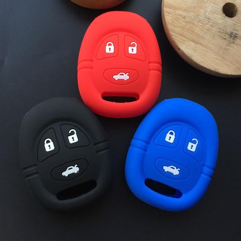 ZAD 3 botones de goma de silicona de la cubierta de la llave del coche para saab 9-3 9-5 93 95 cubierta de llave