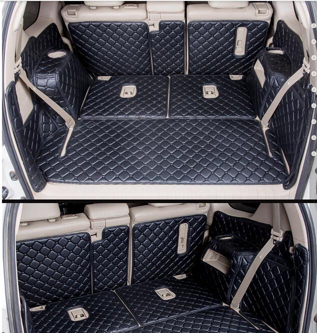 Высокое качество, специальные автомобильные коврики для багажника Toyota Land Cruiser Prado 150 7 мест 2016, Ковровые Коврики для ковров, для Prado 2015-2010