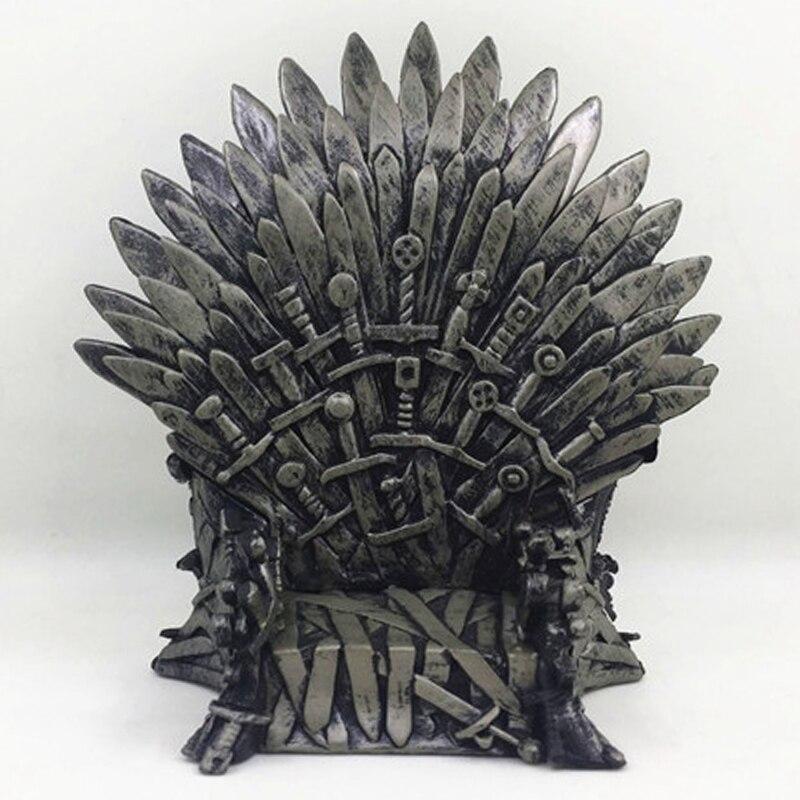 Game of Thrones Trono de ferro Cadeira de Mesa Modelo Figura Espada Canção De Gelo E Fogo Coletivo Processo de Resina Presente de Natal 15 centímetros