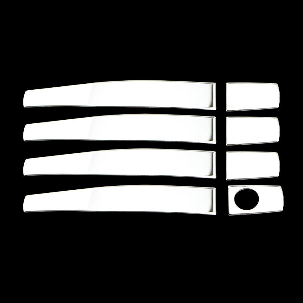 Manijas de puerta de acero inoxidable etiqueta de la cubierta para Chevrolet Cruze LOVA AVEO Captiva para Opel Mokka ASTRA J Insignia Partes calificadas 5,0