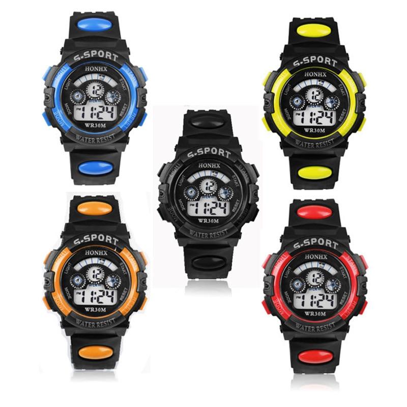 Fashion Watch Waterproof Fashion Casual Children Kid Boy Digital LED Quartz Alarm Date Sports Wrist