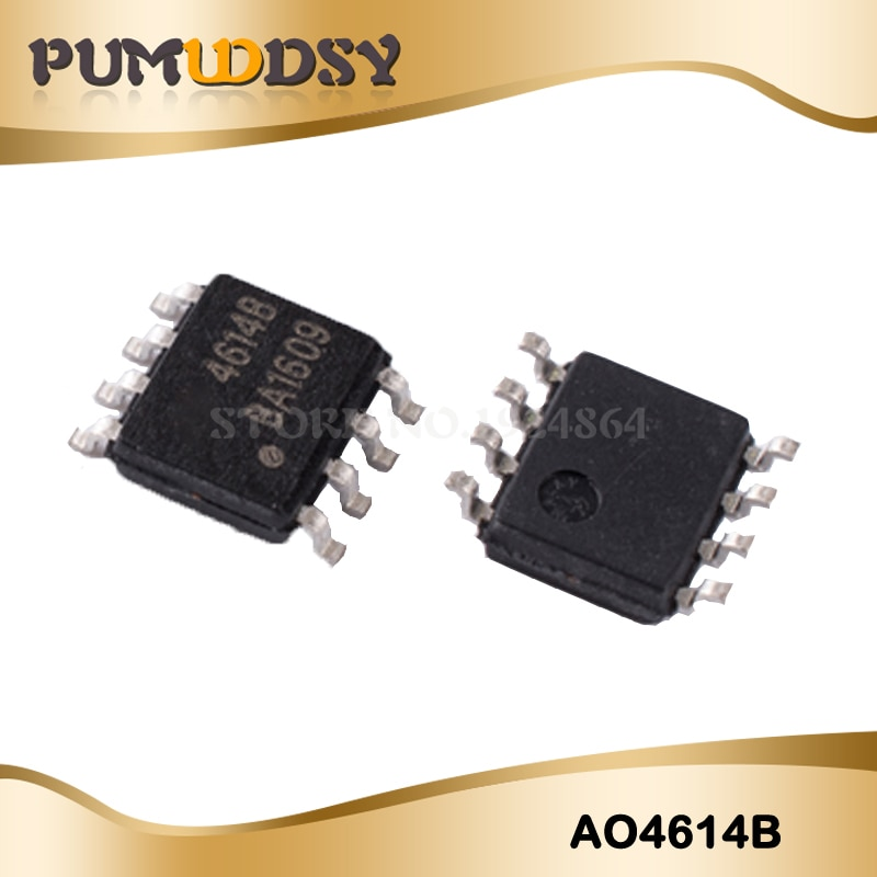 10 piezas AO4614 AO4614B 4614B SOP8 LCD tarjeta de inversor chip nuevo original