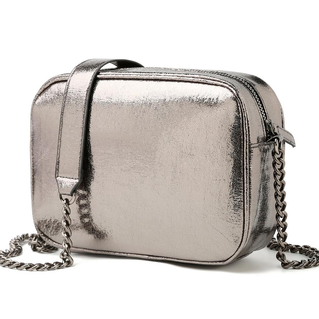 Moda 2019, Casual, verano, bolsos para mujer, cadena de mensajero, bolso cuadrado, bolso de hombro para estudiante, bolsos cruzados para teléfono móvil