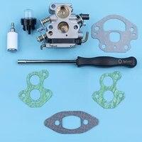carburetor screwdriver adjustment tool gasket kit for mcculloch cs340 cs380 cs 340 chainsaw primer bulb fuel filter spare part