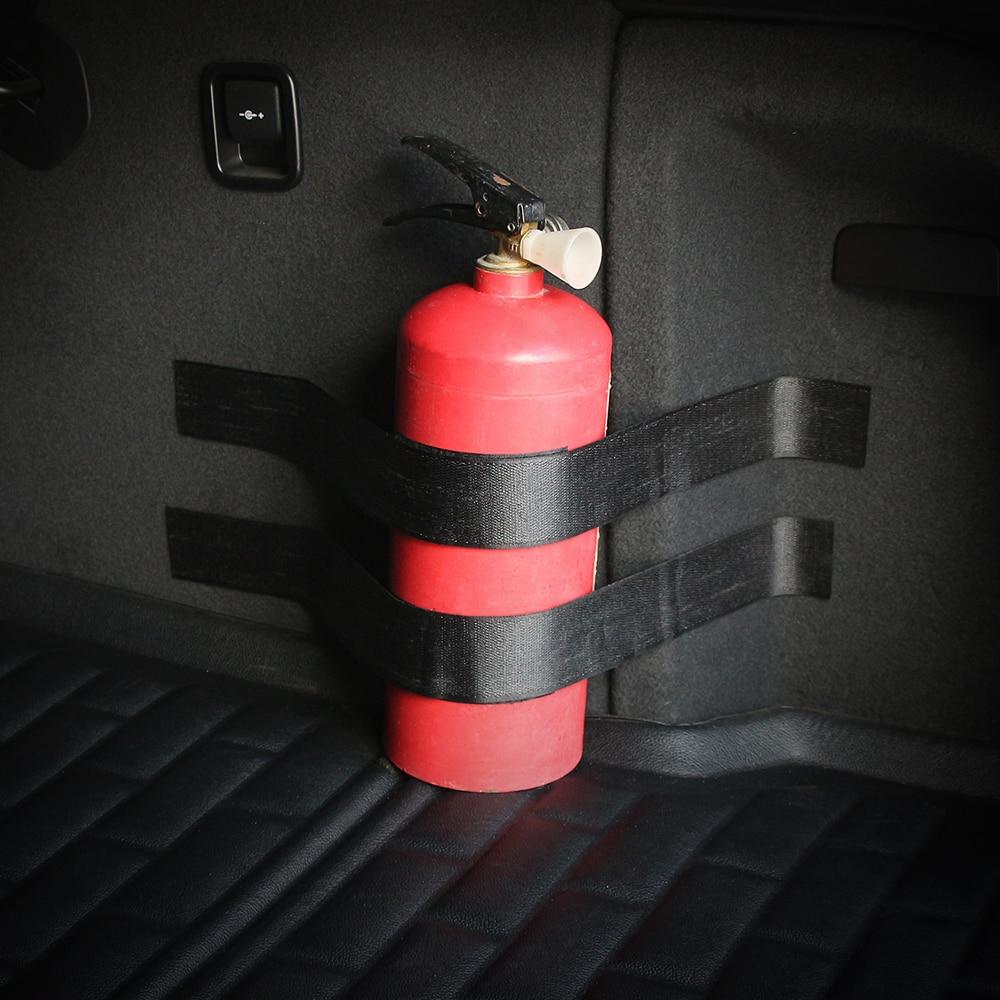 4 Uds extintor de incendios vendaje vehículo tronco cinturón de fijación pegatina de soporte correas cinta mágica resistente adecuado para todos los coches