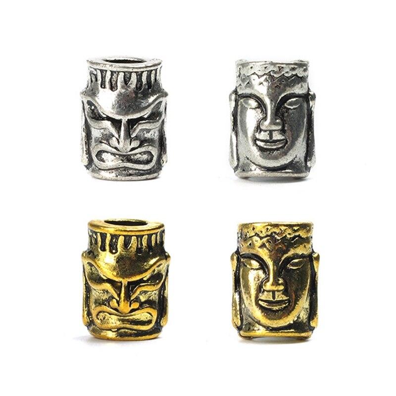 Colgante con diseño de cuchillo de doble cara buddda-demon de 3 piezas, cordones de hebilla para linterna, abalorios para accesorios para brazaletes de paracord