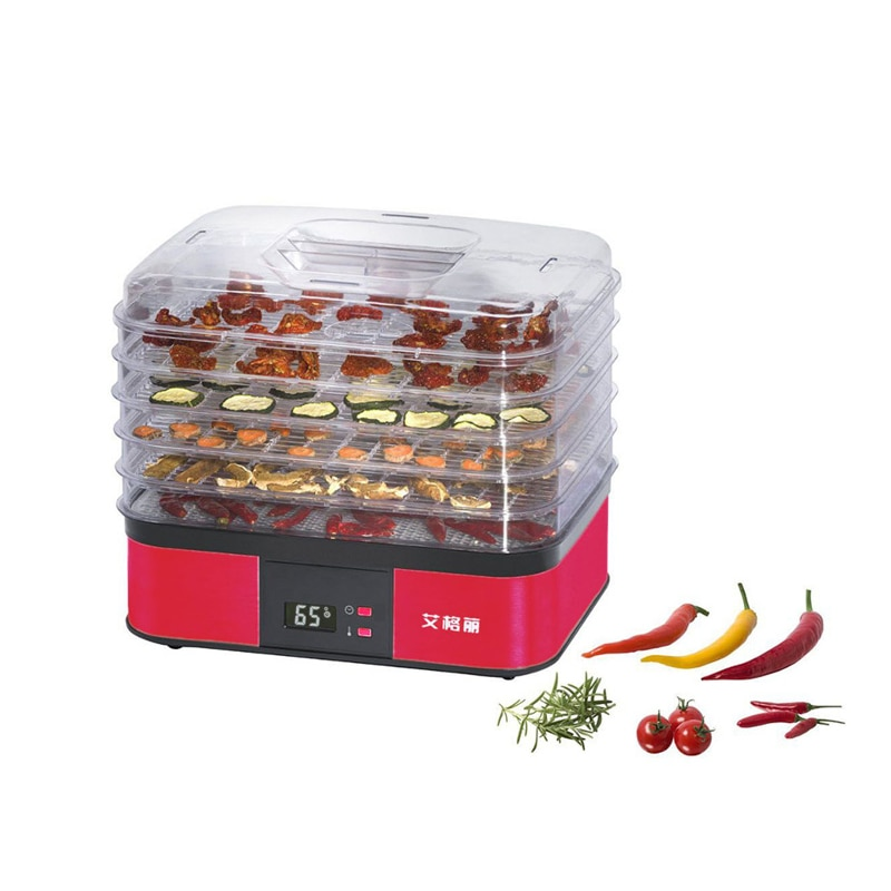5-Layer Food Dryer Household Fruit/Vegetable Dehydrator 220V 250W Food Drying Machine AG1001