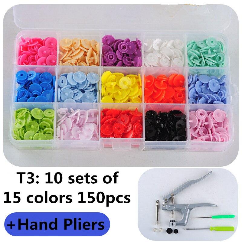 1 комплект, металлические плоскогубцы, инструменты, используемые для T3 T5 T8 Kam, кнопки, Защелкивающиеся плоскогубцы + 150 наборов, T3, пластиковая смола, пресс-шпилька, ткань, подгузник