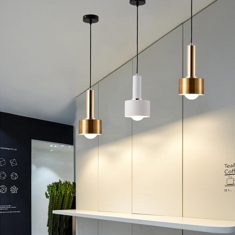 مصباح معلق ذهبي على الطراز الاسكندنافي ، تصميم حديث ، لمبة E27 G80 220 فولت ، إضاءة داخلية مزخرفة ، مثالي لغرفة المعيشة أو المقهى أو غرفة النوم أو ...