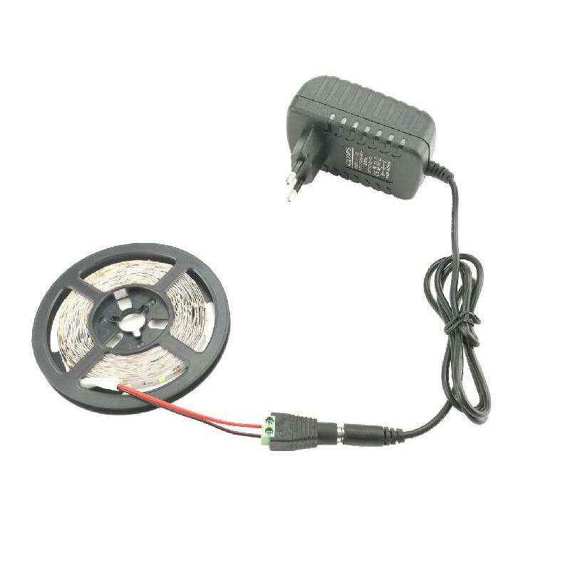DC 12 v LED Streifen 5 mt SMD 2835 Flexible Band + DC Buchse + 2A AC 110 v 220 v 240 v zu DC 12 v Netzteil Adapter Konverter
