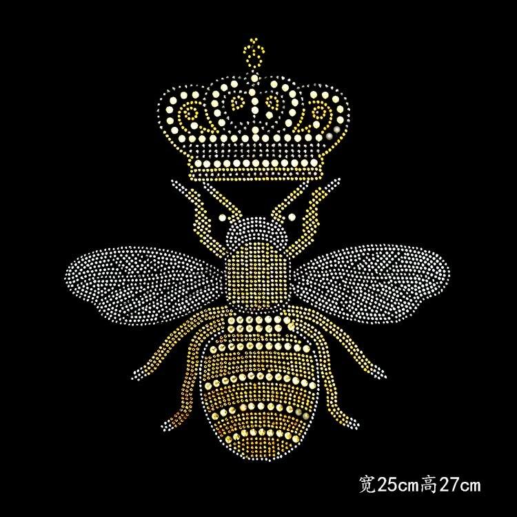 10 шт./лот honeybee нагрудные Стразы с горячей фиксацией, дизайн теплопередачи, железные мотивы, стразы для одежды, футболка