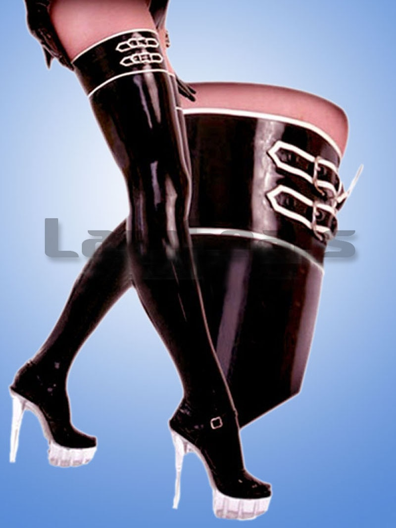 Латексные чулки ручной работы с пряжками|stockings latex|stockingsstockings l |