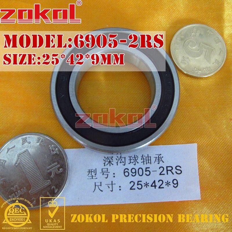 Подшипники ZOKOL 6905 RS 6905 2RS ZZ 6905ZZ Z1 6905 Глубокие шаровые подшипники 25*42*9 мм