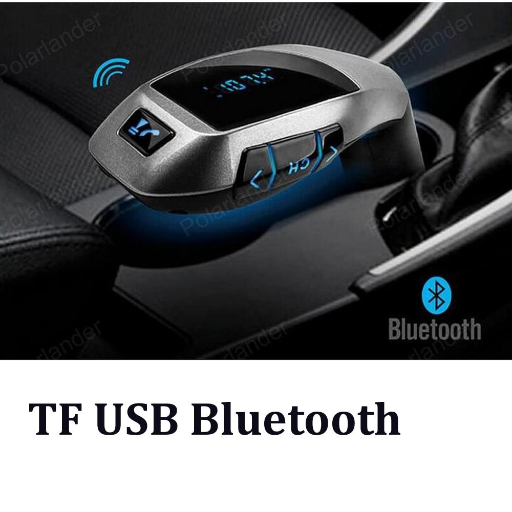 Nuevo teléfono inteligente Bluetooth MP3 jugador kit de manos libres para coche cargador transmisor FM USB/lector de tarjetas TF